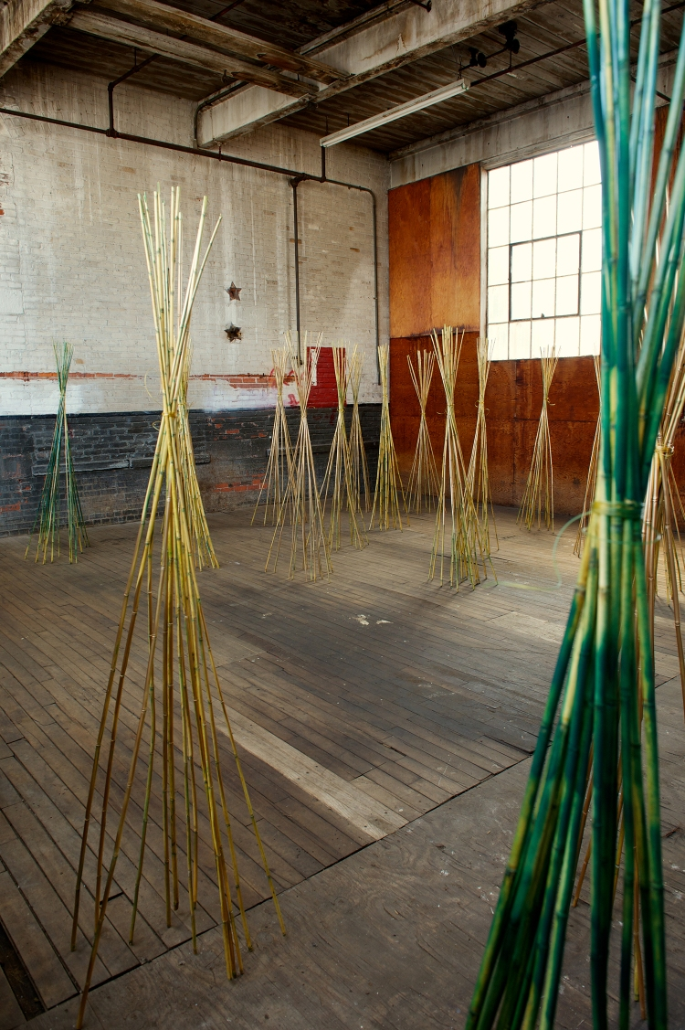 Installation at the Art Factory Textile Exhibition. Opens September on September 28, 2013. Photo: David Shapiro